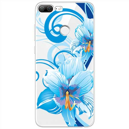 Etui na Huawei Honor 9 Lite - Niebieski kwiat północy.