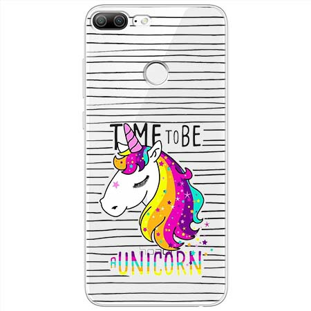 Etui na Huawei Honor 9 Lite - Time to be unicorn - Jednorożec.
