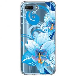 Etui na Huawei Honor 10 - Niebieski kwiat północy.