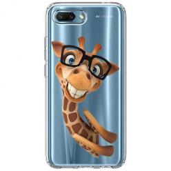 Etui na Huawei Honor 10 - Wesoła żyrafa w okularach.