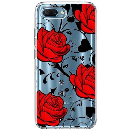 Etui na Huawei Honor 10 - Czerwone róże.
