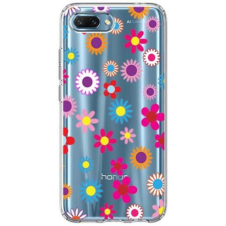 Etui na Huawei Honor 10 - Kolorowe stokrotki.