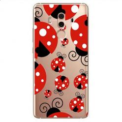 Etui na Huawei Mate 10 Pro - Czerwone wesołe biedronki.