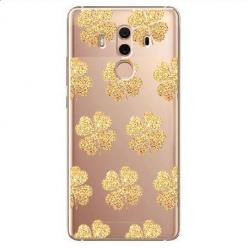 Etui na Huawei Mate 10 Pro - Złote koniczynki.