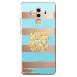 Etui na Huawei Mate 10 Pro - Złota czterolistna koniczyna.