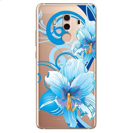 Etui na Huawei Mate 10 Pro - Niebieski kwiat północy.