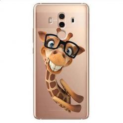 Etui na Huawei Mate 10 Pro - Wesoła żyrafa w okularach.
