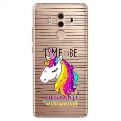 Etui na Huawei Mate 10 Pro - Time to be unicorn - Jednorożec.