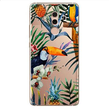 Etui na Huawei Mate 10 Pro - Egzotyczne tukany.