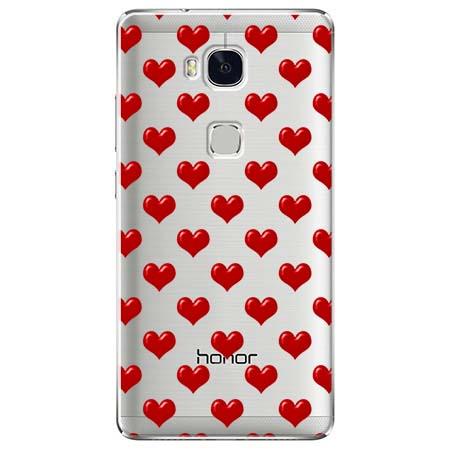 Etui na Huawei Honor 5X - Czerwone serduszka.