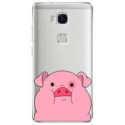 Etui na Huawei Honor 5X - Słodka różowa świnka.