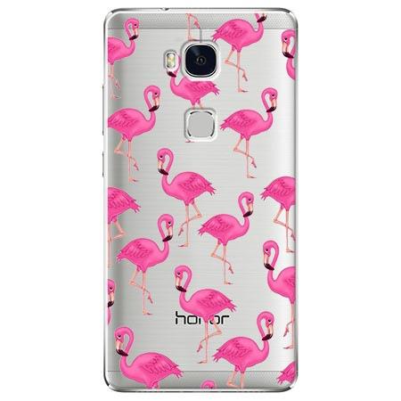 Etui na Huawei Honor 5X - Różowe flamingi.