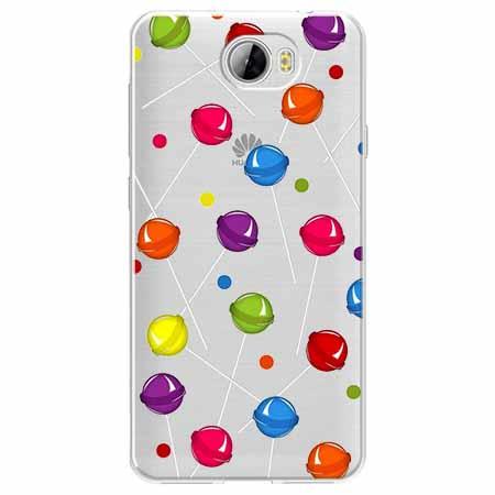 Etui na Huawei Y5 II - Kolorowe lizaki.