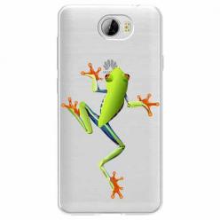 Etui na Huawei Y5 II - Zielona żabka.