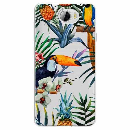 Etui na Huawei Y5 II - Egzotyczne tukany.