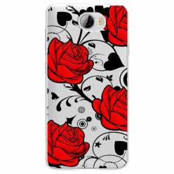 Etui na Huawei Y5 II - Czerwone róże.