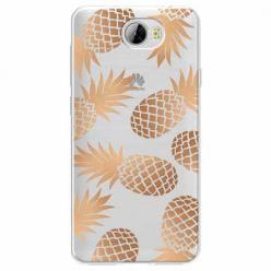 Etui na Huawei Y5 II - Złote ananasy.