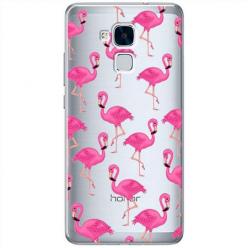 Etui na Huawei Honor 5C - Różowe flamingi.