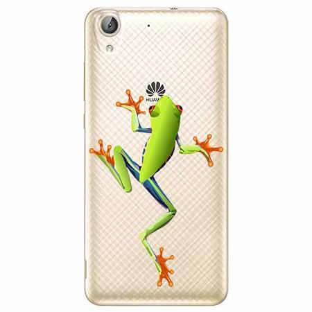 Etui na Huawei Y6 II - Zielona żabka.