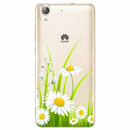 Etui na Huawei Y6 II - Polne stokrotki.