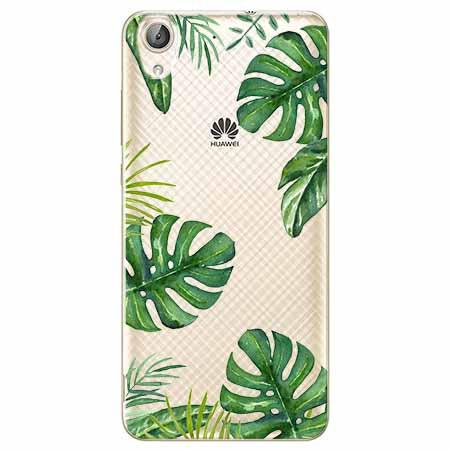Etui na Huawei Y6 II - Egzotyczna roślina Monstera.