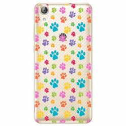 Etui na Huawei Y6 II - Kolorowe psie łapki.