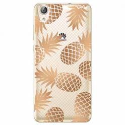 Etui na Huawei Y6 II - Złote ananasy.