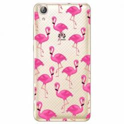 Etui na Huawei Y6 II - Różowe flamingi.