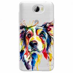 Etui na Huawei Y6 II Compact - Watercolor pies.