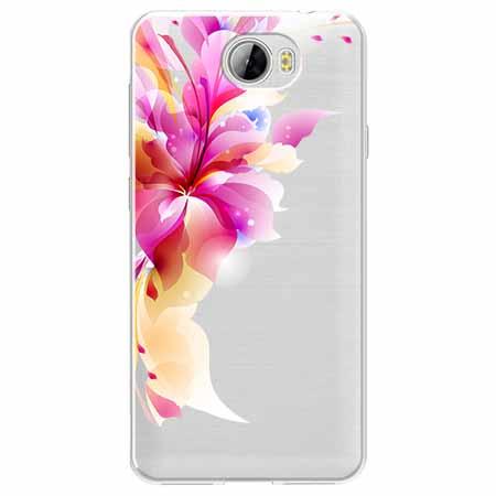 Etui na Huawei Y6 II Compact - Bajeczny kwiat.