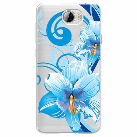 Etui na Huawei Y6 II Compact - Niebieski kwiat północy.