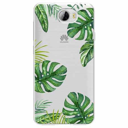 Etui na Huawei Y6 II Compact - Egzotyczna roślina Monstera.