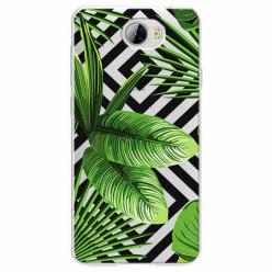 Etui na Huawei Y6 II Compact - Egzotyczne liście bananowca.