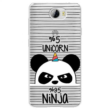 Etui na Huawei Y6 II Compact - Ninja Unicorn - Jednorożec.