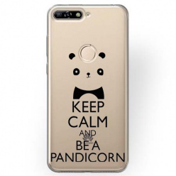 Etui na Huawei Y7 Prime 2018 - Keep Calm… Pandicorn.
