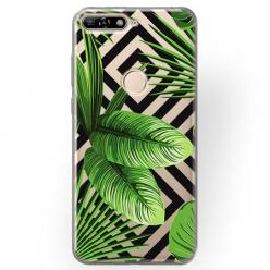 Etui na Huawei Y7 Prime 2018 - Egzotyczne liście bananowca.