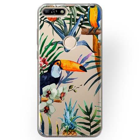 Etui na Huawei Y7 Prime 2018 - Egzotyczne tukany.
