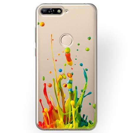 Etui na Huawei Y7 Prime 2018 - Kolorowy splash.