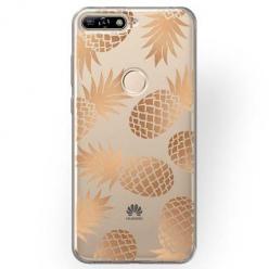 Etui na Huawei Y7 Prime 2018 - Złote ananasy.