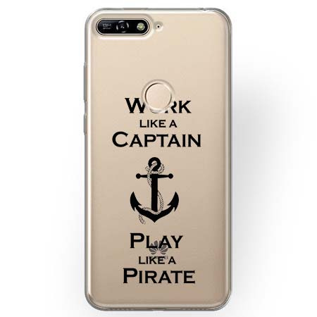 Etui na Huawei Y7 Prime 2018 - Work like a Captain…