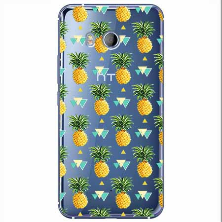 Etui na HTC U11 - Ananasowe szaleństwo.