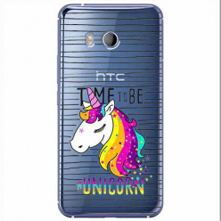 Etui na HTC U11 - Time to be unicorn - Jednorożec.