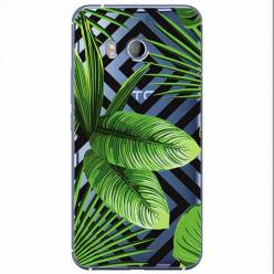Etui na HTC U11 - Egzotyczne liście bananowca.