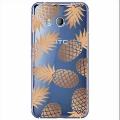 Etui na HTC U11 - Złote ananasy.