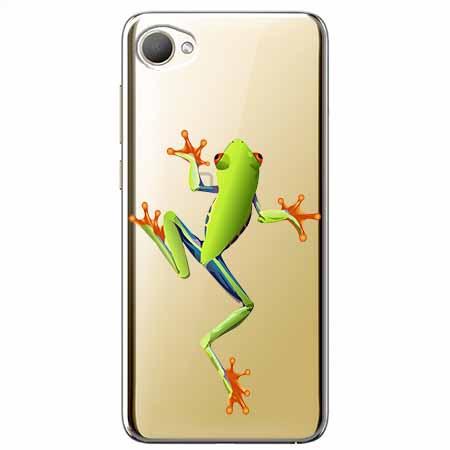 Etui na HTC Desire 12 - Zielona żabka.