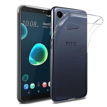Etui na HTC Desire 12 - Tęczowe piórka.
