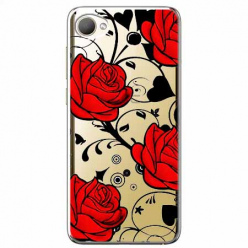 Etui na HTC Desire 12 - Czerwone róże.
