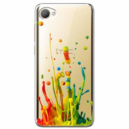 Etui na HTC Desire 12 - Kolorowy splash.