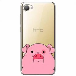 Etui na HTC Desire 12 - Słodka różowa świnka.