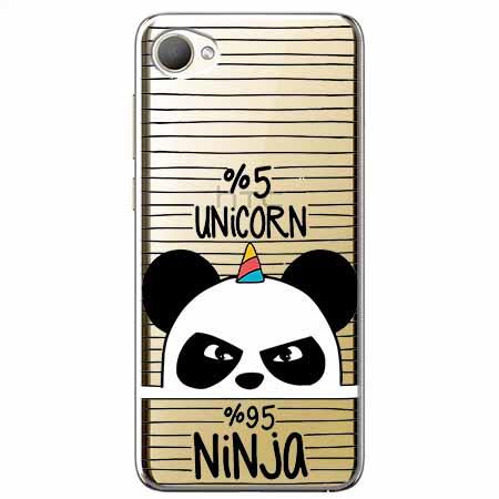 Etui na HTC Desire 12 - Ninja Unicorn - Jednorożec.